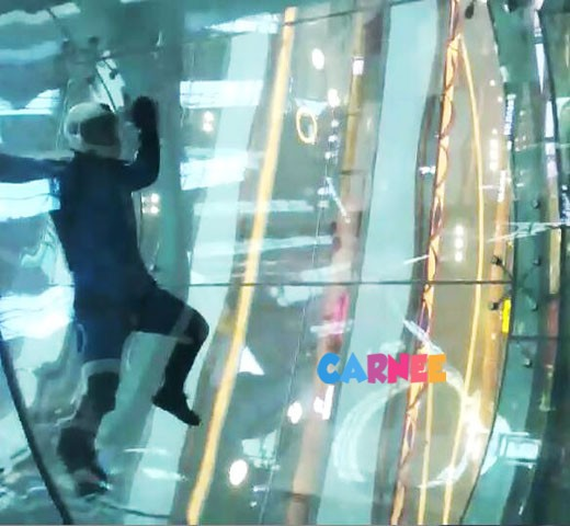2.5m shopping mall indoor skydiving