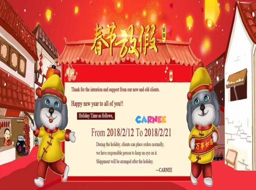 Spring Festival Holiday Time Notice